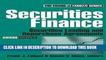 New Book Securities Finance: Securities Lending and Repurchase Agreements