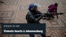 Des heurts violents entre policiers et étudiants lors de manifestations à Johannesburg
