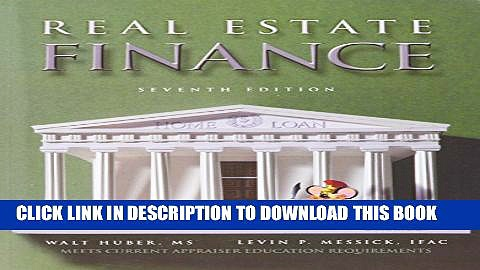 New Book Real Estate Finance