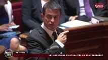 Manuel Valls prend à partie Gérard Larcher en plein QAG