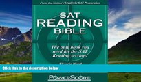 Big Deals  SAT Reading Bible : PowerScore Test Preparation  Full Ebooks Most Wanted