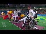 Wheelchair Fencing | China v Hungary Men's Individual Foil Semi-Final | Rio 2016 Paralympic Games