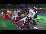 Wheelchair Fencing | China v Hungary Men's Individual Foil Semi-Final | Rio 2016 Paralympic Games