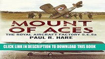 New Book Mount of Aces: The Royal Aircraft Factory S.E.5a
