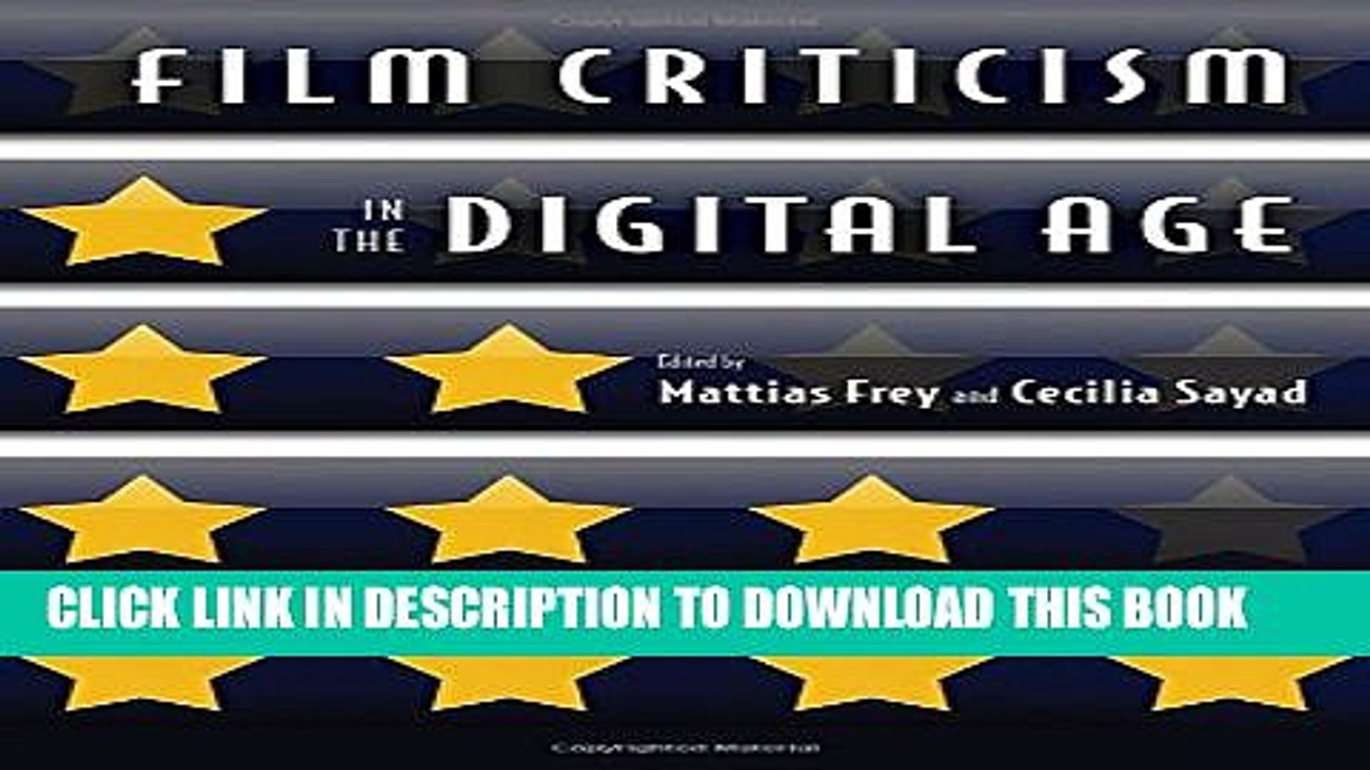 Pdf Film Criticism In The Digital Age Full Collection Video Dailymotion