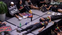 Students Hold 'Die-In' at Charlotte University Following Keith Scott Killing