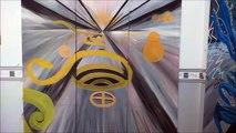 Contemporaine Tatatron ! moderne 2016 peinture à l'huile sur toile en triptyque 1m50 - 1m50   _003