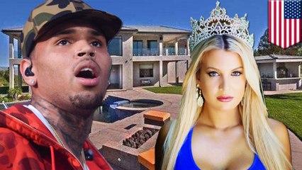 Chris Brown appuie son arme à feu contre la tête d'un mannequin