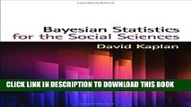 [New] Bayesian Statistics for the Social Sciences (Methodology in the Social Sciences) Exclusive