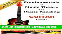 [PDF] Fundamentals of Music Theory and Music Reading for Guitar - Level I: The Indian Guitar