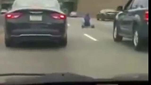 Man Rides Big Wheel On Interstate  In Philly