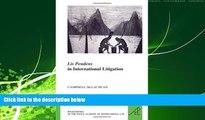 FAVORITE BOOK  Lis Pendens in International Litigation (Les Livres de Poche de L Academie de