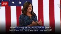 Michelle Obama takes on Donald Trump - BBC News(360p)