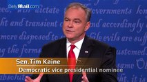 Pence and Kaine spar over abortion issue at VP debate