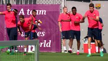 FC Barcelona training session: Second workout session without internationals