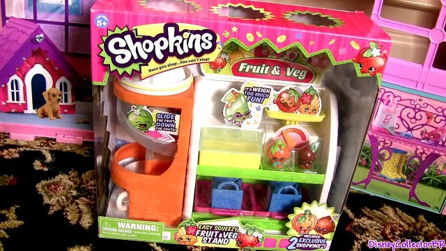 Shopkins Fruits & Veggie Stand Playset - Disney Frozen Princess Elsa Shopping at Supermarket