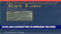 [PDF] The Forms and Functions of Tort Law (Concepts and Insights) Popular Collection