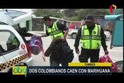 Tumbes: intervienen a colombianos que trasladaban marihuana