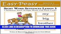 PDF] Sight Word Sentences Lesson 3: 5 Sentences Teach 20 Sight Words
