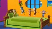 [LOW] Five Little Monkeys Jumping on the bed - 3D Animation - English Nursery rhymes - 3d Rhymes -  Kids Rhymes - Rhymes for childrens