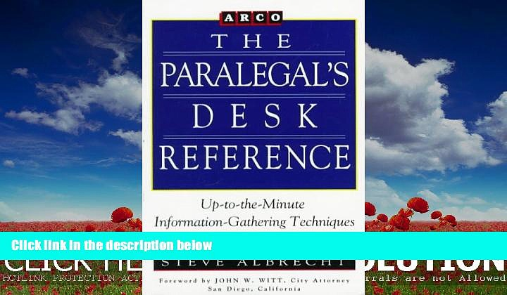 different   Paralegal Desk Reference 1E (Paralegal s Desk Reference)