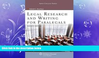 complete  Legal Research   Writing for Paralegals Seventh Edition (Aspen College)