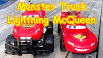 The Pixar Cars Lightning McQueen Monster Truck Ramp Jumps and Night Vision