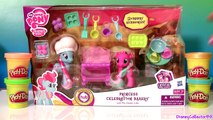 Play Doh MLP Princess Celebration Bakery Set My Little Pony Dazzle Cake & Twirly Treats Baking Toys
