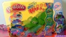 Play Doh Hungry Hungry Hippo Eats Cars Micro Drifters Planes playdough Disney Pixar Hippos toy