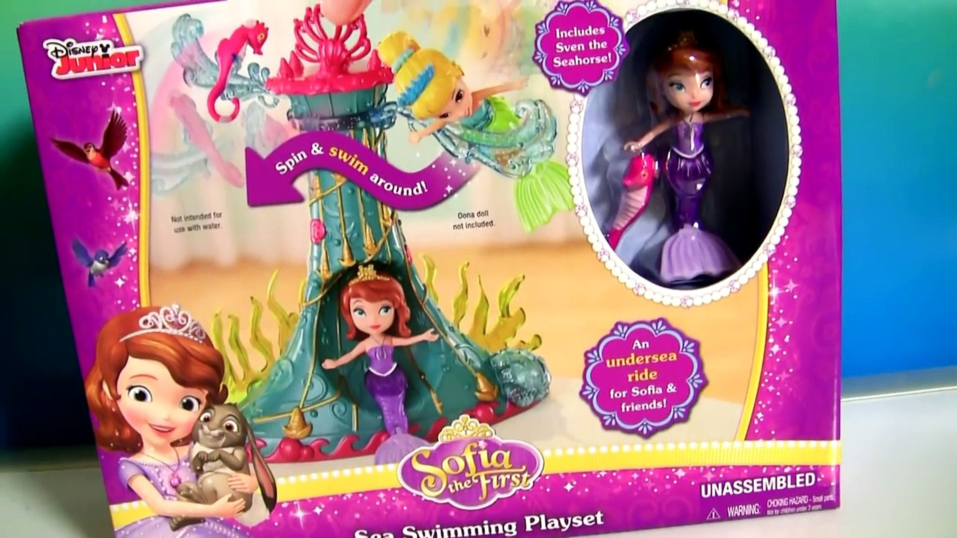 Mermaid Sofia Sea Swimming Playset Disney Princess Sofia the First Unboxing by DisneyCollector