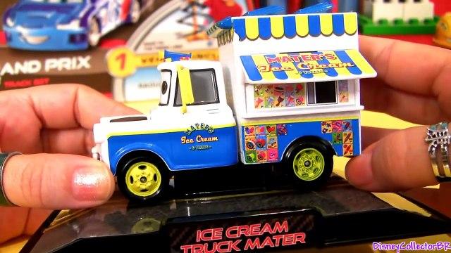 CARS 2 Ice Cream Truck Mater & Taco Truck Mater Diecast Pixar toys review Disney Pixar store tacos