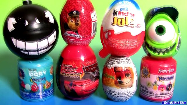 Toy Surprise Eggs Kinder Paw Patrol Finding Dory MASHEMS Angry Birds MASHEMS CARS Zootopia 3