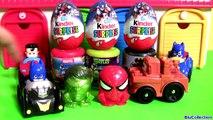 (타요) Tayo Garage with Disney Cars Avengers Spiderman Mashems Batman 디즈니카 어벤져스 깜짝 계란 장난감 스파이더맨