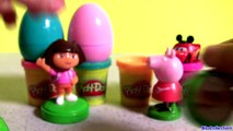 Surprise Play Doh Eggs Peppa Pig Stamper Cars Pocoyo Minecraft Smurfs Kinder Play Doh Sparkle Brilho