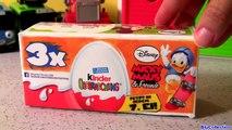Kinder Eggs Surprise Disney Mickey Mouse 3-pack Brinquedos Ovos Surpresa de Chocolate