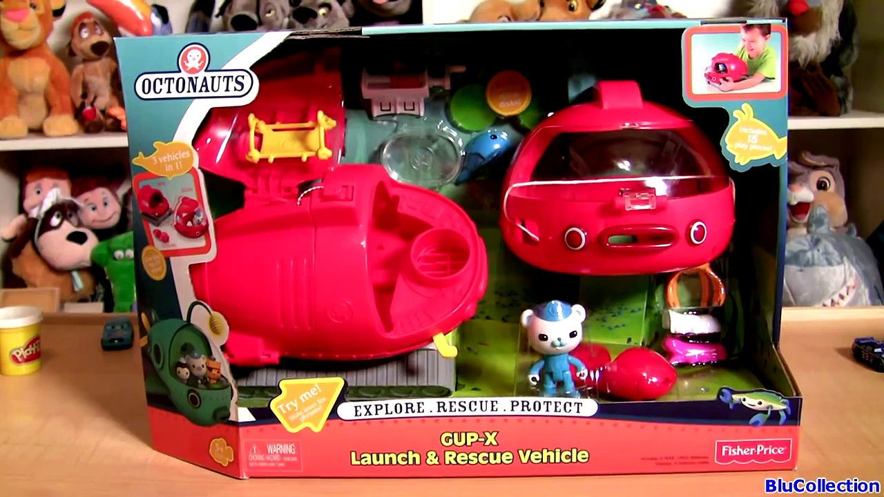 The Octonauts Launch n Rescue Gup X Vehicle Octopod Explore Rescue Protect toy review Disney channel