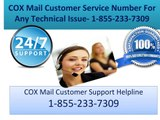 COX Mail Customer Support Number 1-855-233-7309 COX mail Password Recover