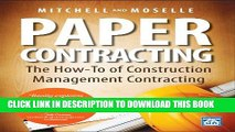 [PDF] Paper Contracting: The How-To of Construction Management Contracting Popular Colection