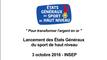 Discours de Thierry Braillard - Lancement des Etats Généraux du sport de haut niveau