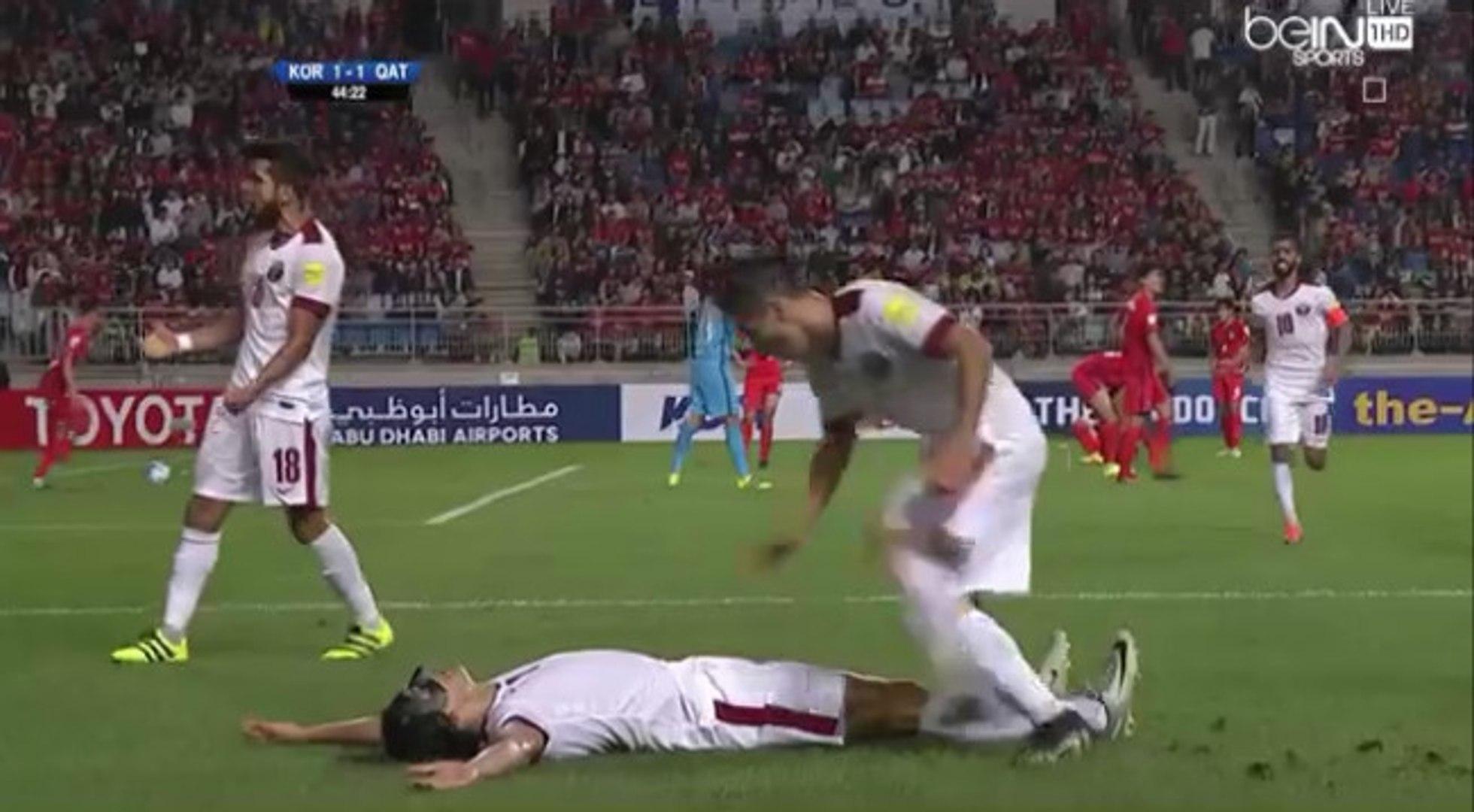 Sebastian Soria Amazing Goal - South Korea 1-2 Qatar - (06/10/2016)