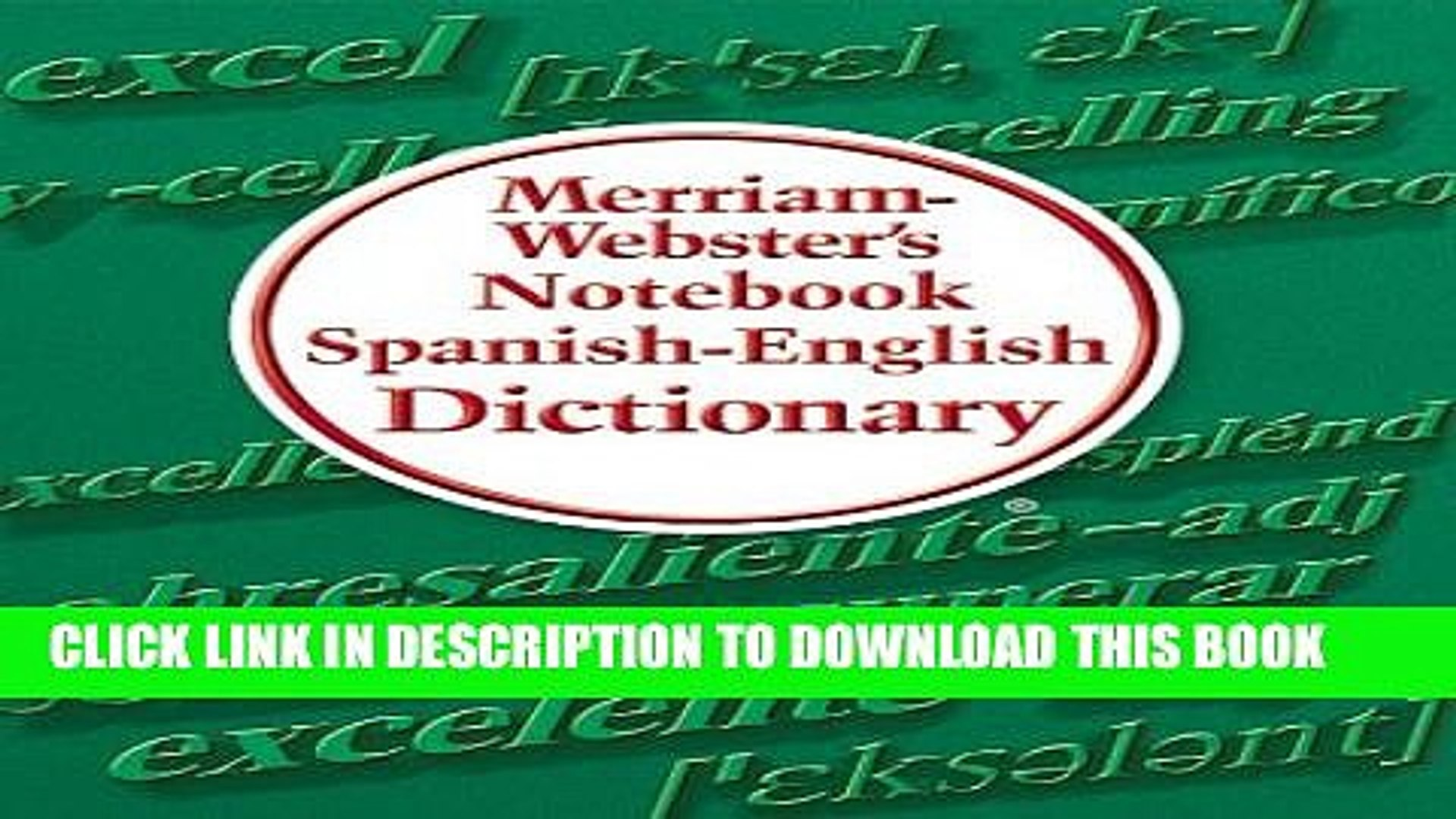 [PDF] Merriam-Webster s Notebook Spanish-English Dictionary Full Online