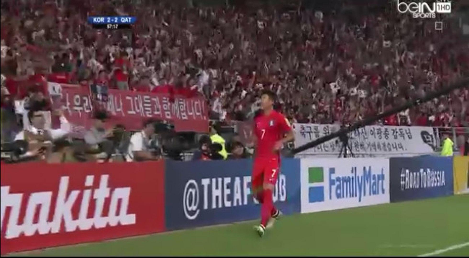 Son Heung-min Goal - South Korea 3-2 Qatar (06/10/2016)