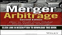 [PDF] Merger Arbitrage: How to Profit from Global Event-Driven Arbitrage Full Online