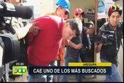 Policía captura a uno de los delincuentes más buscados de Arequipa