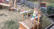 Un papa construit un incroyable parcours Ninja Warrior pour sa fille de 5 ans