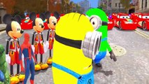 Minions COLORS Spiderman COLORS & Lightning McQueen Cars COLORS w Kids Songs
