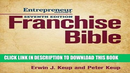 New Book Franchise Bible: How to Buy a Franchise or Franchise Your Own Business
