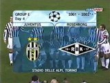 Juventus v. Rosenborg 17.10.2001 Champions League 2001/2002 Highlights