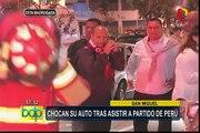 San Miguel: chocan su auto tras asistir a partido de la selección peruana