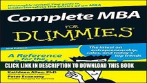 [Read PDF] Complete MBA For Dummies Ebook Online